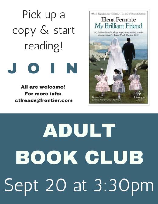 Adult Book Club Reminder